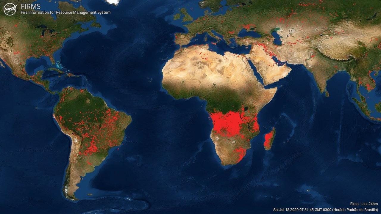 focos de chamas, evaristo de miranda, satélite, meio ambiente
