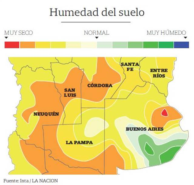 Umidade do solo na Argentina