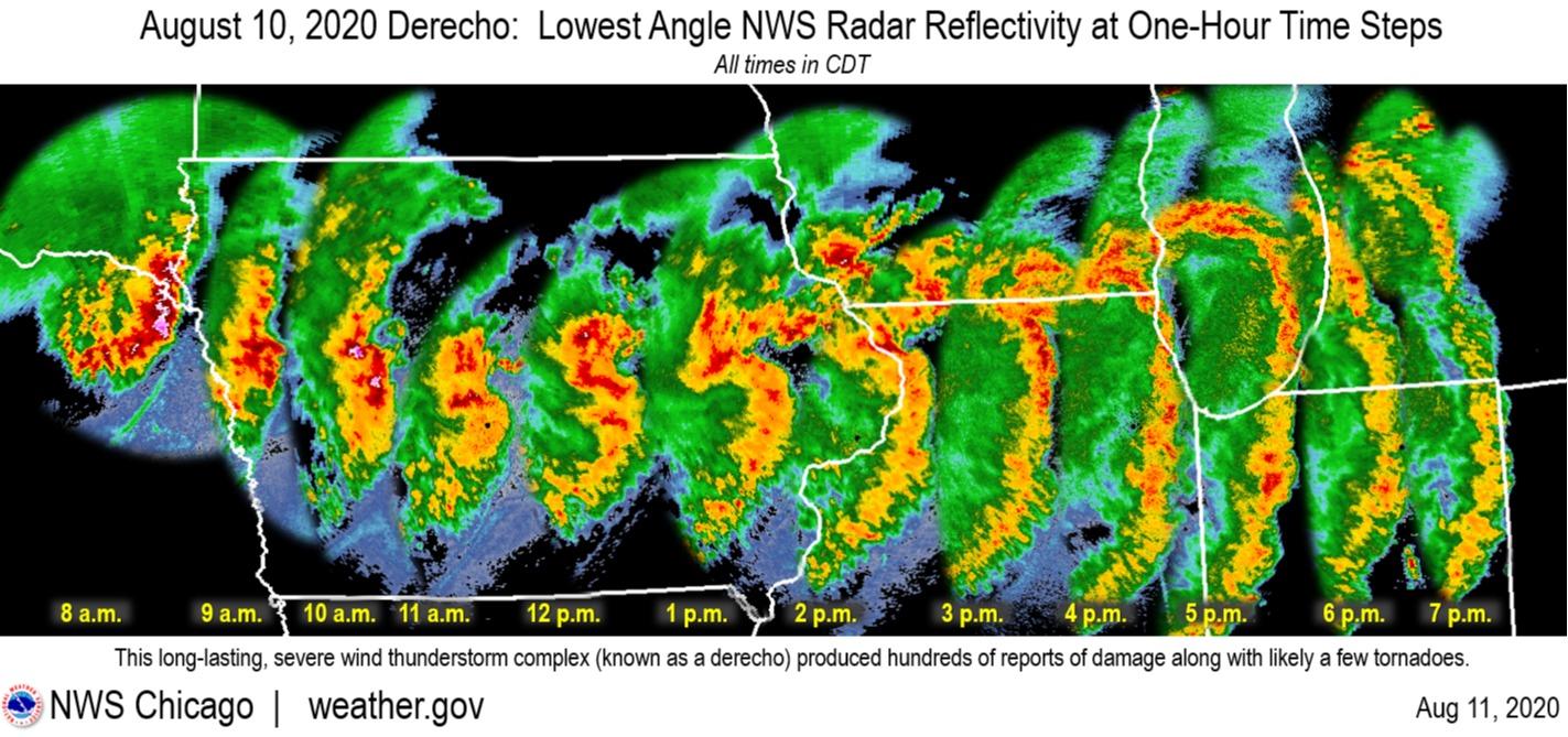 Radar - tempestade EUA - Agosto 2020