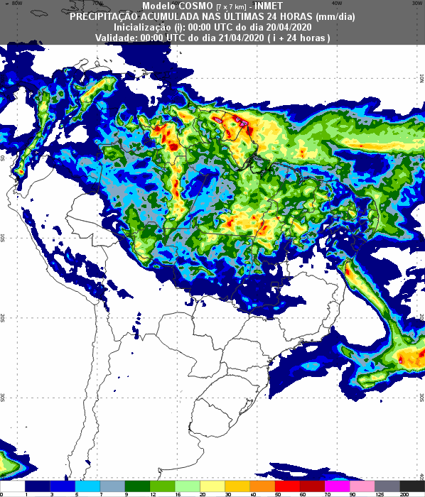 Previsão Nordeste - 24h - Inmet