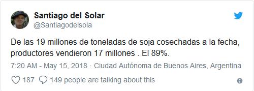 Ministério da Agroindústria sobre venda de soja argentina