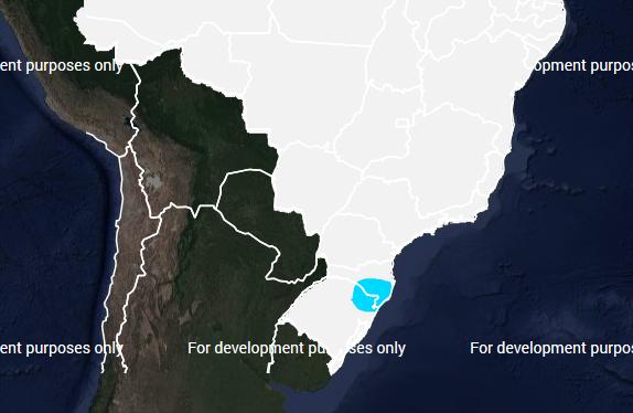 Mapa com risco de geada no Brasil para sábado (18) - Fonte: Inmet
