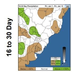 Previsões CWG - 16 a 30 dias