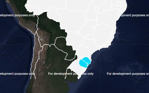 Mapa com risco de geada em no Brasil para sexta-feira (17) - Fonte: Inmet