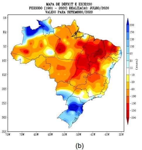 Setembro - Déficit Hídrico - Fonte: Inmet