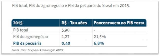 Produto Interno Bruto (PIB) do Brasil - ABIEC