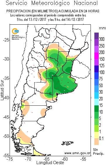 Chuvas na Argentina