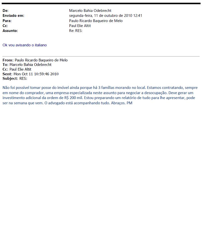 Odebrecht entrega e-mails sobre terreno para Instituto Lula