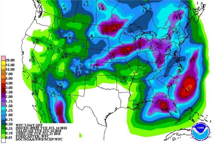 Previsão 7 dias - EUA
