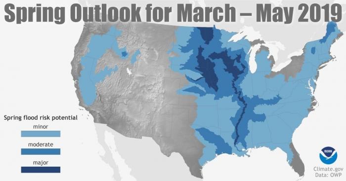 NOAA inundações na primavera