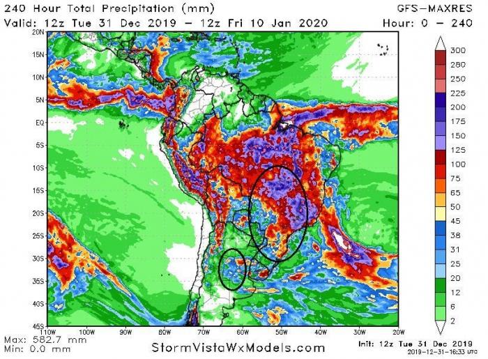 mapa de precipitação