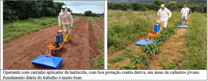 Procafé: Carrinho aplicador de herbicida em cafezal tem bom rendimento