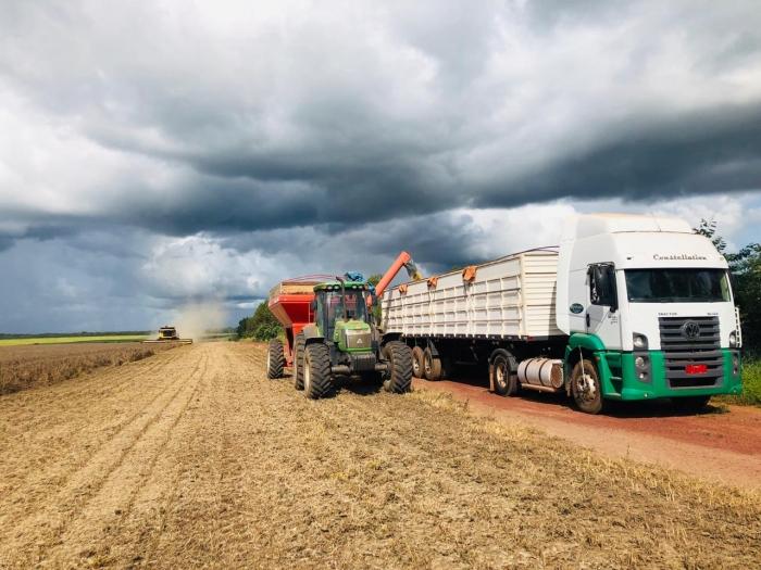 Chuva chegando na colheita em Grajaú (MA) - Foto: Reprodução/Redes sociais