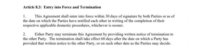 Acordo China x EUA - 15 de fevereiro